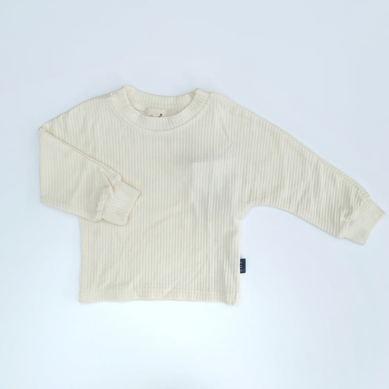 buttercream long sleeve tee