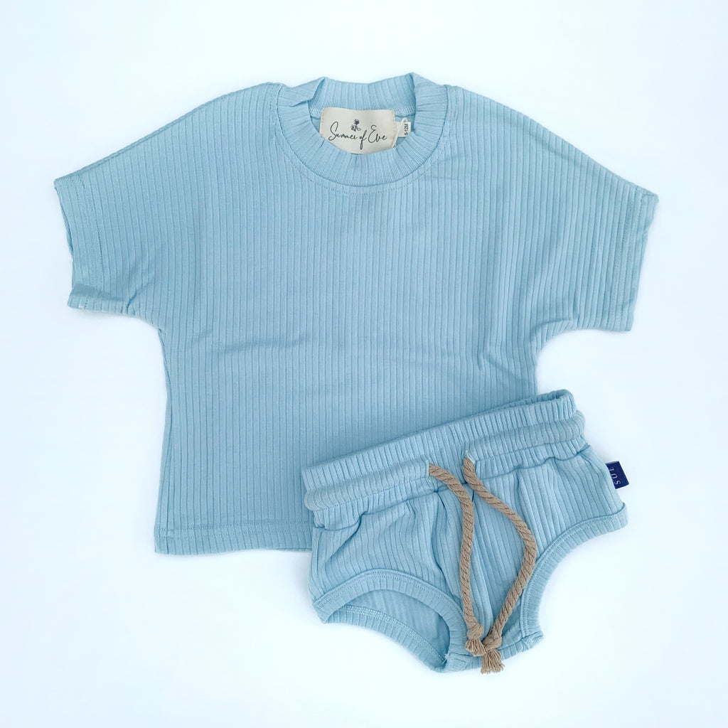 kids blue cotton set