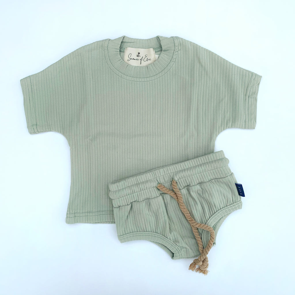 sage green cotton set