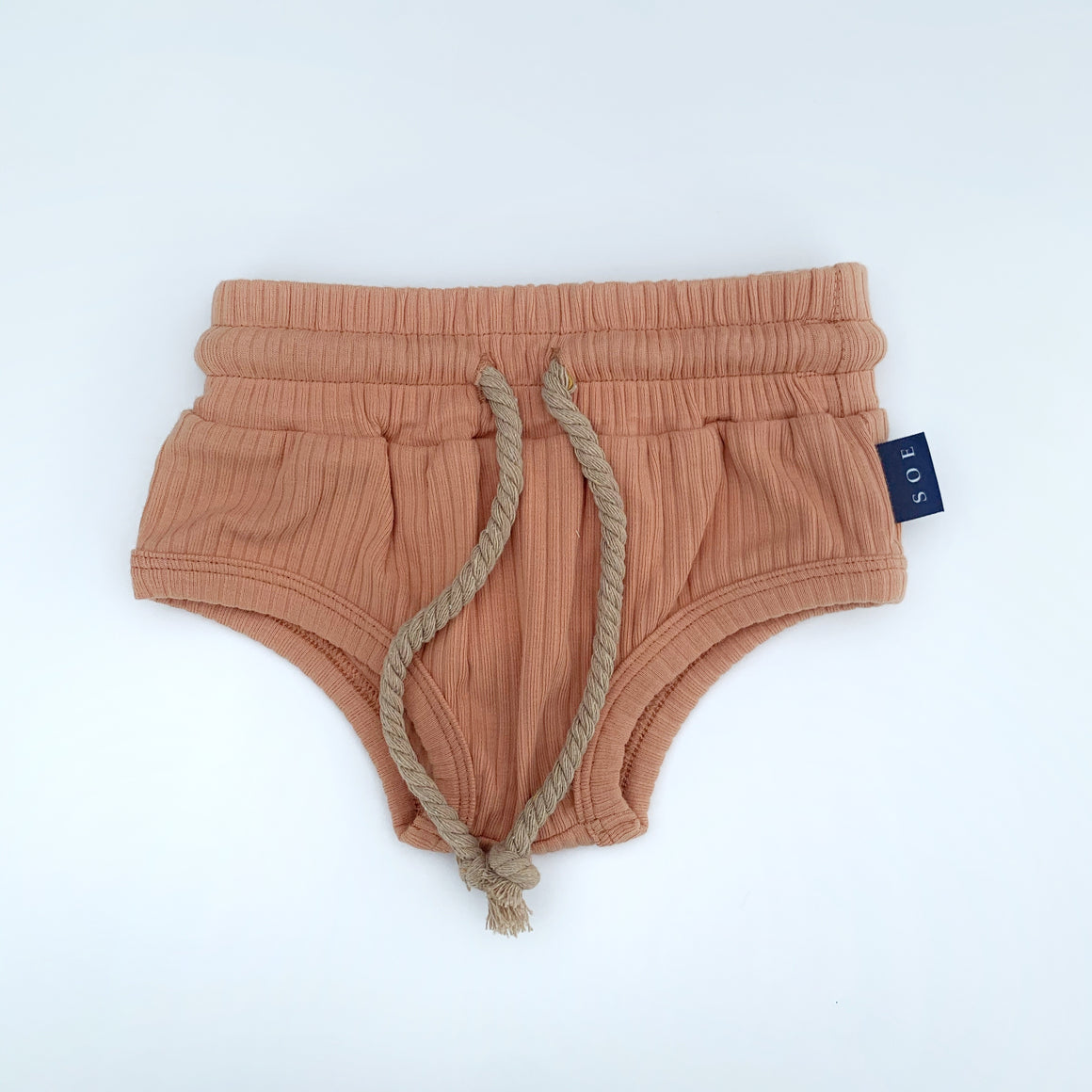 terracotta neurtral kids shorts