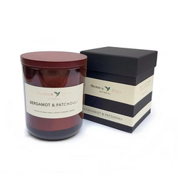 Bergamot & Patchouli Scented Candle Large - Monica Eter