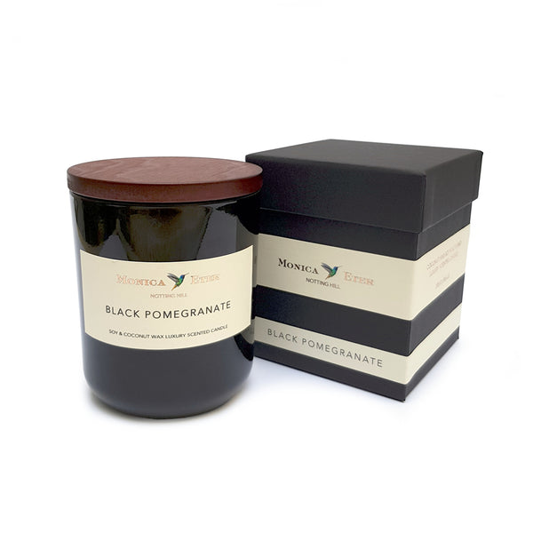 Black Pomegranate Scented Candle Large - DiP Candles