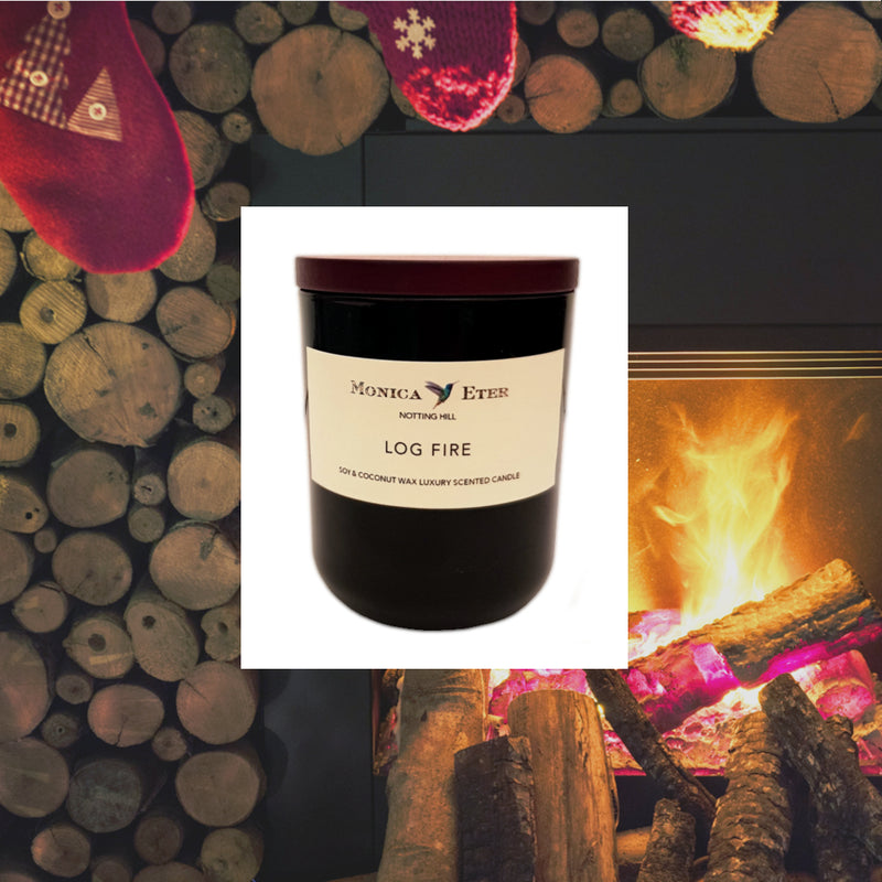 Log Fire Scented Candle Large - DiP Candles