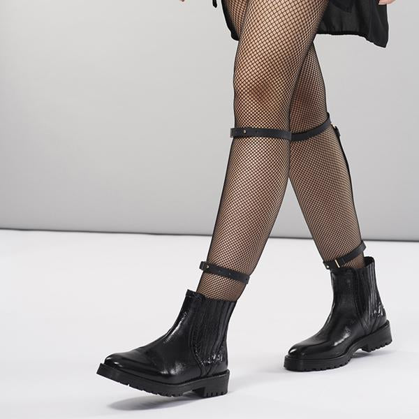 MAZE Knee & Ankle Garters Black