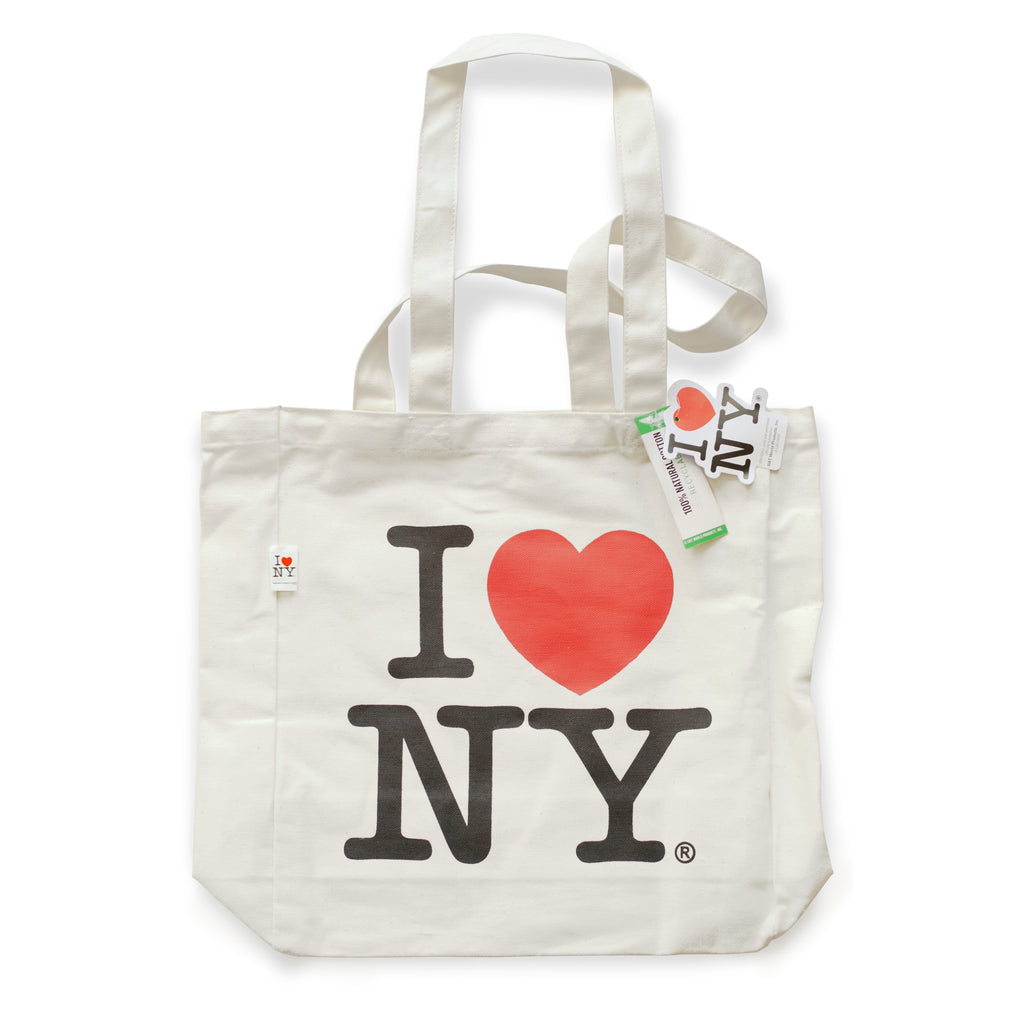 I ❤ NY Canvas Tote Black / White