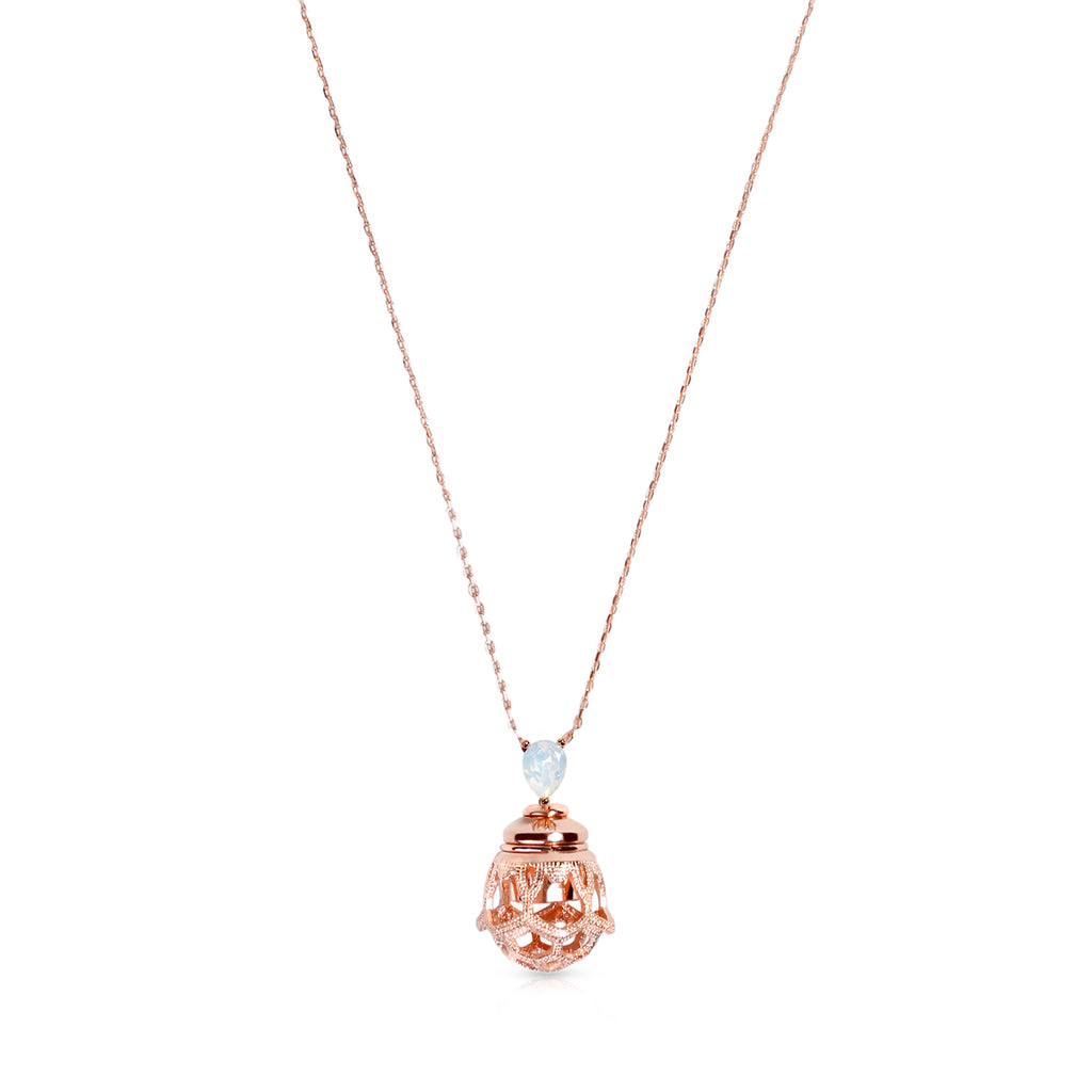 ENCHANTÉ CRYSTAL NECKLACE - ROSE GOLD VERMEIL ON STERLING SILVER