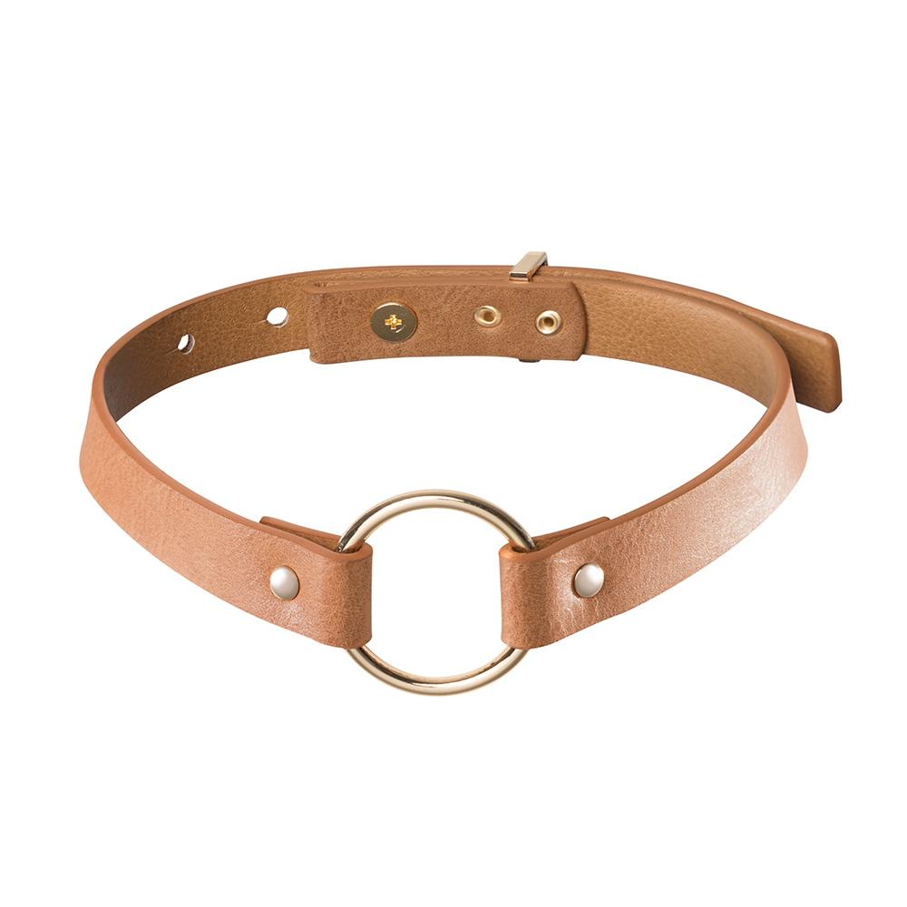 MAZE Single Choker Brown