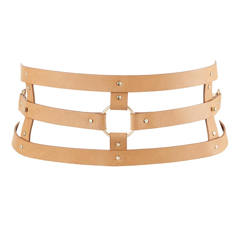 MAZE Wide Belt & Restraints Brown