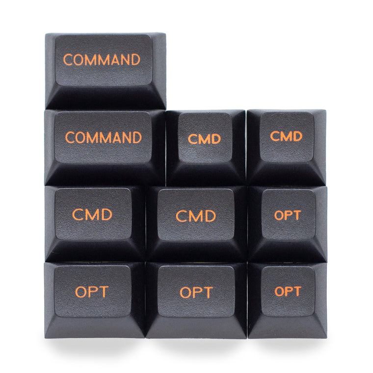 DYE-SUBBED PBT CAPS DSA for MAC set BLACK-ORANGE