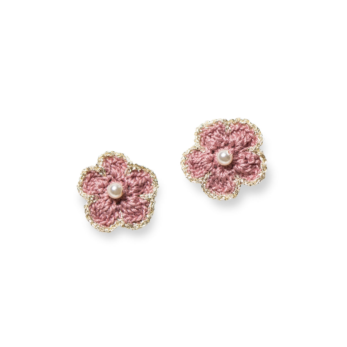Blossom Golden Crochet Pierce Pink
