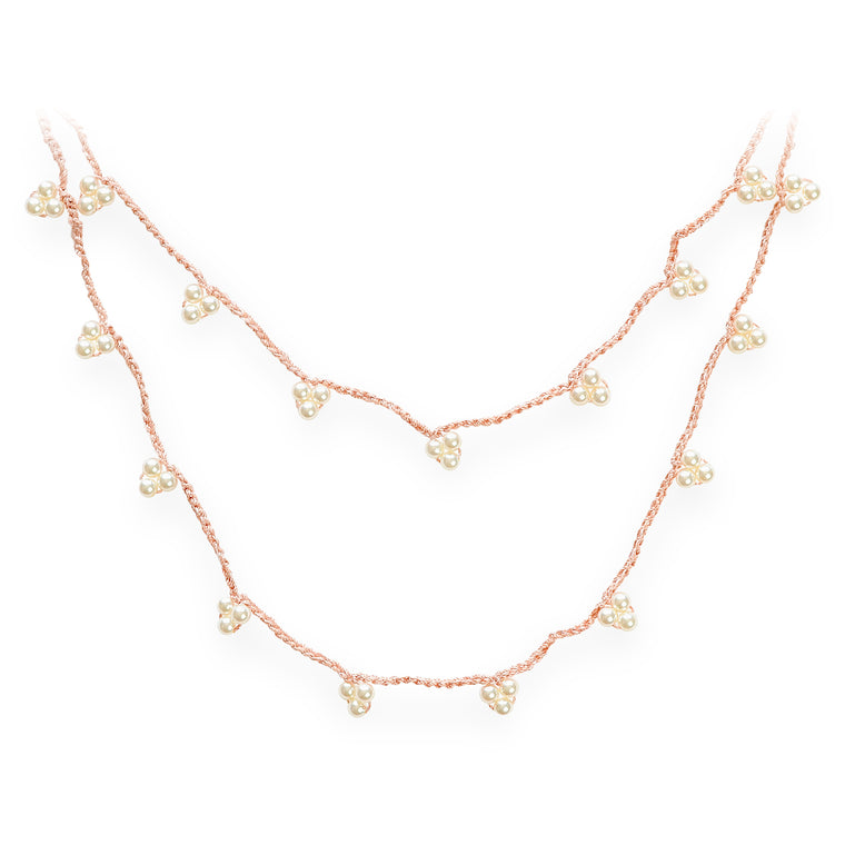 Stardust Twinkle Long Necklace Orange