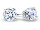 Diamond Earrings 1/2 Carat (ctw) in 14K White Gold (Color H-I, Clarity I2-I3)