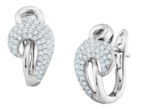 Diamond Earrings 3/4 Carat (ctw) 14K White Gold
