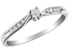Diamond Engagement Ring 1/10 Carat in 10K White Gold