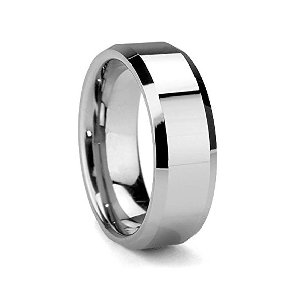 Vintage Rings Black Tungsten Ring For Men Tungsten Wedding Ring Jewelry Fashion Men's Big Ring WJ246