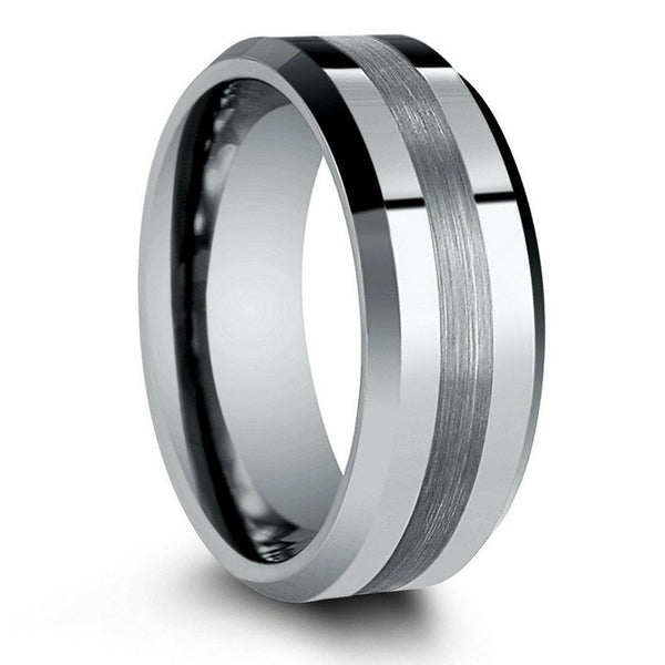 Nice 2 Color Tungsten Ring Black&Rose Gold Tungsten Wedding Ring For Men And Women