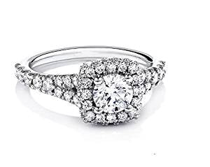 1 carat Diamond Engagement Ring  (ctw Color H-I Clarity I2-I3) 14K White Gold