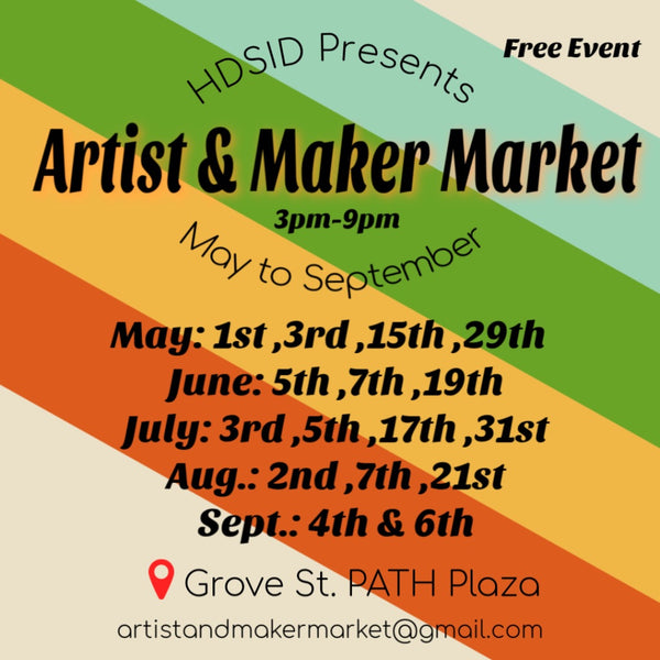 Come on over!  We will be at Artist & Maker Market in Jersey City today!