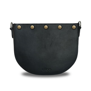 Black Half-moon Body with Yellow Rectangular Flap