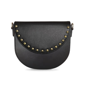 Black with Black studs in Half-moon
