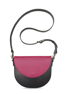 Black Half-moon Body with Hot Pink Half-moon Flap