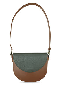 BandalHalf-moon-Body-Brown-BandalHalf-moon-Flap-OliveGreen-Shoulder-Strap-Brown