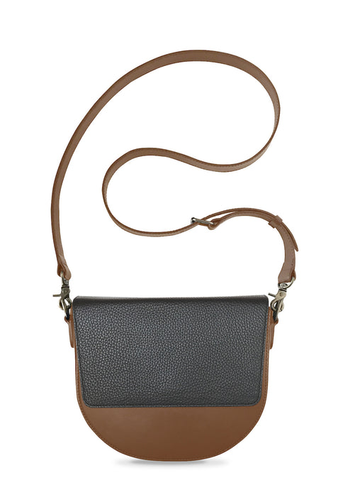 Brown Half-moon Body with Black Rectangular Flap