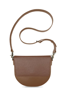 BandalHalf-moon-Body-Brown-NemoRectangular-Flap-Brown-Cross-body-length-Strap-Brown