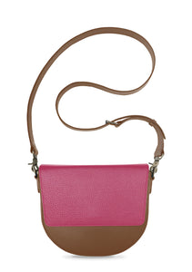 BandalHalf-moon-Body-Brown-NemoRectangular-Flap-HotPink-Cross-body-length-Strap-Brown