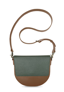 BandalHalf-moon-Body-Brown-NemoRectangular-Flap-OliveGreen-Cross-body-length-Strap-Brown
