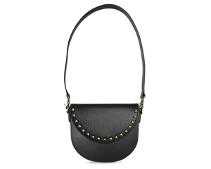 BandalHalf-moon-Body-Black-BandalHalf-moon-Flap-BlackStud-Crossbody-Strap-Black