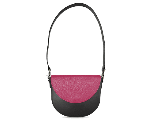 BandalHalf-moon-Body-Black-BandalHalf-moon-Flap-HotPink-Shoulder-Strap-Black
