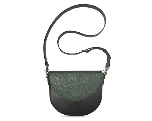 BandalHalf-moon-Body-Black-BandalHalf-moon-Flap-OliveGreen-Crossbody-Strap-BlackStud