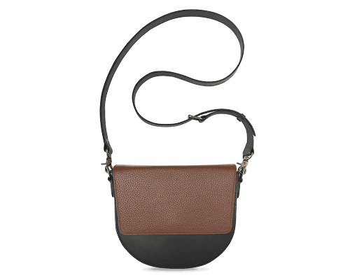 BandalHalf-moon-Body-Black-NemoRectangular-Flap-Brown-Crossbody-Strap-Black