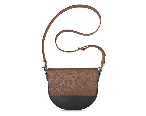 BandalHalf-moon-Body-Black-NemoRectangular-Flap-Brown-Crossbody-Strap-Brown