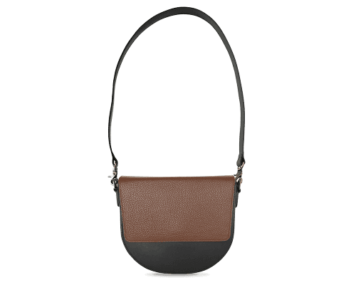 BandalHalf-moon-Body-Black-NemoRectangular-Flap-Brown-Shoulder-Strap-Black