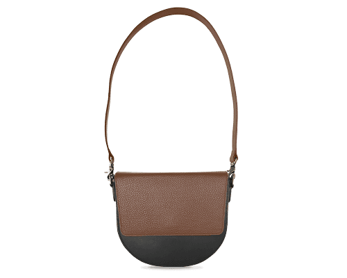 BandalHalf-moon-Body-Black-NemoRectangular-Flap-Brown-Shoulder-Strap-Brown
