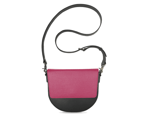 BandalHalf-moon-Body-Black-NemoRectangular-Flap-HotPink-Crossbody-Strap-BlackStud