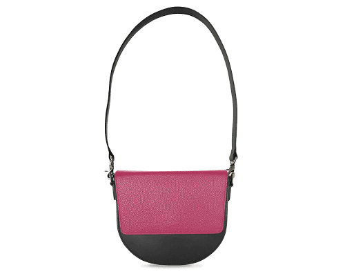 BandalHalf-moon-Body-Black-NemoRectangular-Flap-HotPink-Shoulder-Strap-Black