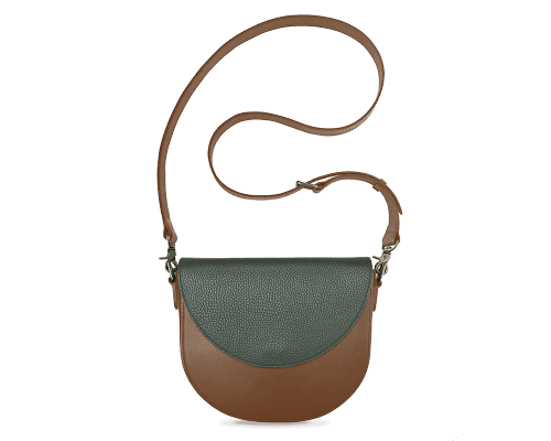BandalHalf-moon-Body-Brown-BandalHalf-moon-Flap-OliveGreen-Crossbody-Strap-Brown
