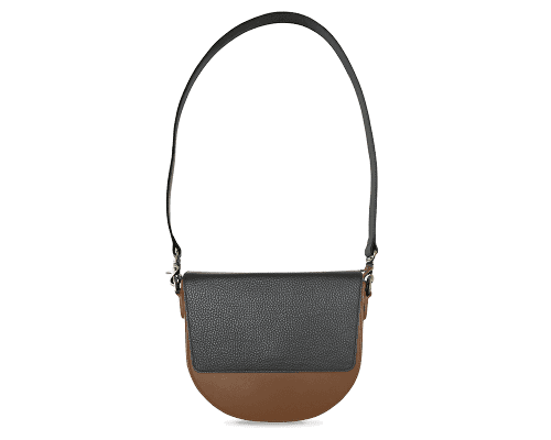 BandalHalf-moon-Body-Brown-NemoRectangular-Flap-Black-Shoulder-Strap-Black