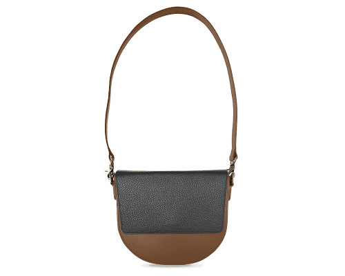 BandalHalf-moon-Body-Brown-NemoRectangular-Flap-Black-Shoulder-Strap-Brown
