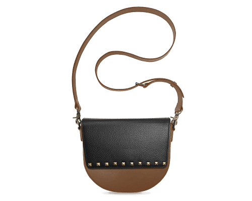 BandalHalf-moon-Body-Brown-NemoRectangular-Flap-BlackStud-Crossbody-Strap-Brown