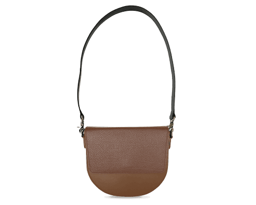 BandalHalf-moon-Body-Brown-NemoRectangular-Flap-Brown-Shoulder-Strap-BlackStud