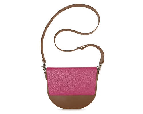 BandalHalf-moon-Body-Brown-NemoRectangular-Flap-HotPink-Crossbody-Strap-Brown