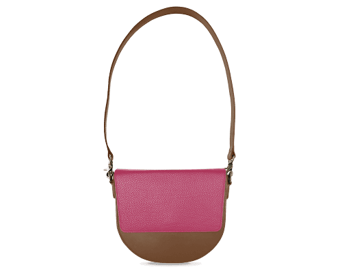 BandalHalf-moon-Body-Brown-NemoRectangular-Flap-HotPink-Shoulder-Strap-Brown