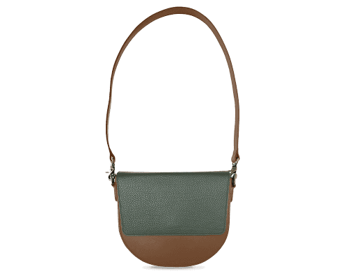 BandalHalf-moon-Body-Brown-NemoRectangular-Flap-OliveGreen-Shoulder-Strap-Brown