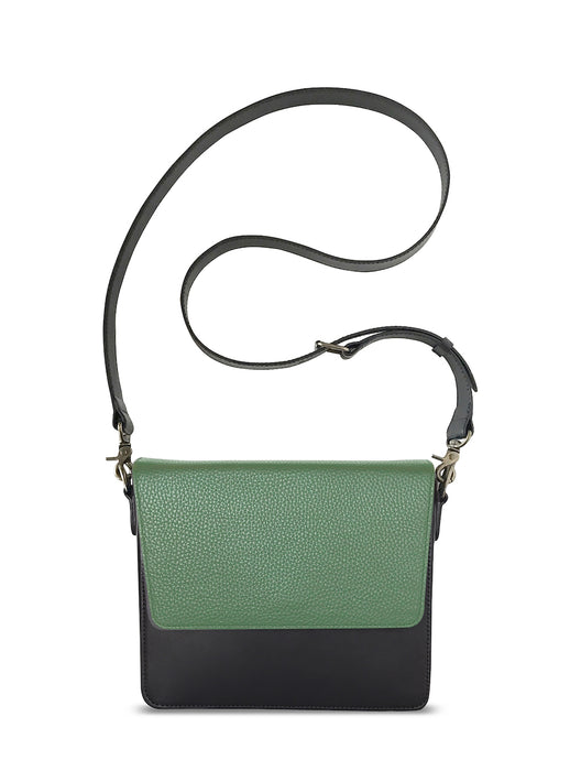 Black Rectangular Body with Light Olive Green Rectangular Flap