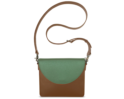 NemoRectangular-Body-Brown-BandalHalf-moon-Flap-LightOliveGreen-Crossbody-Strap-Brown