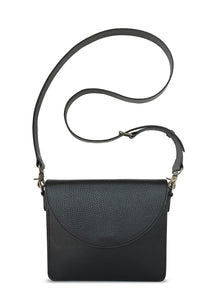 NemoRectangular-Body-Black-BandalHalf-moon-Flap-Black-Cross-body-length-Strap-Black